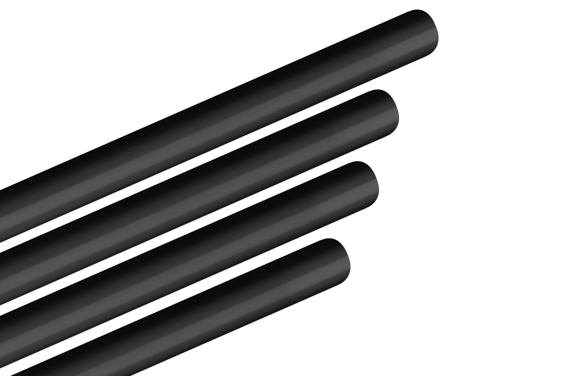 Aluminum piping comes in a variety of colors, such as black