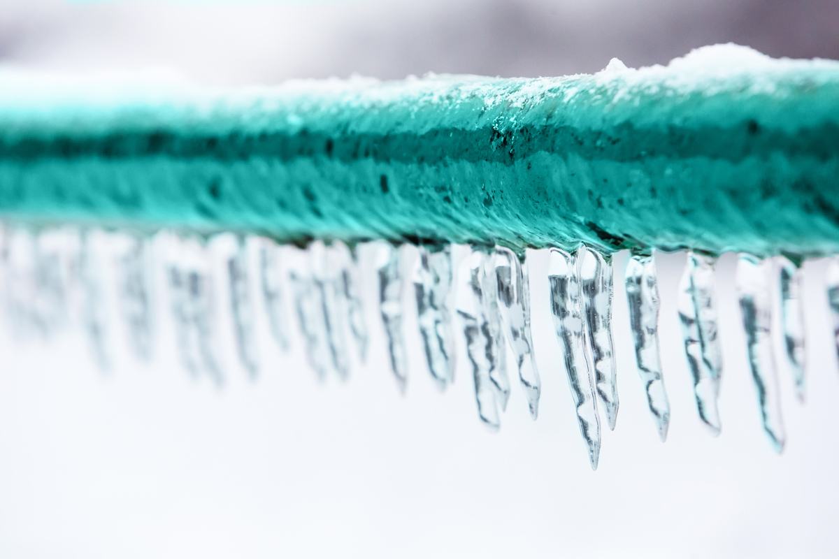 We hope your pipes never freeze this impressively