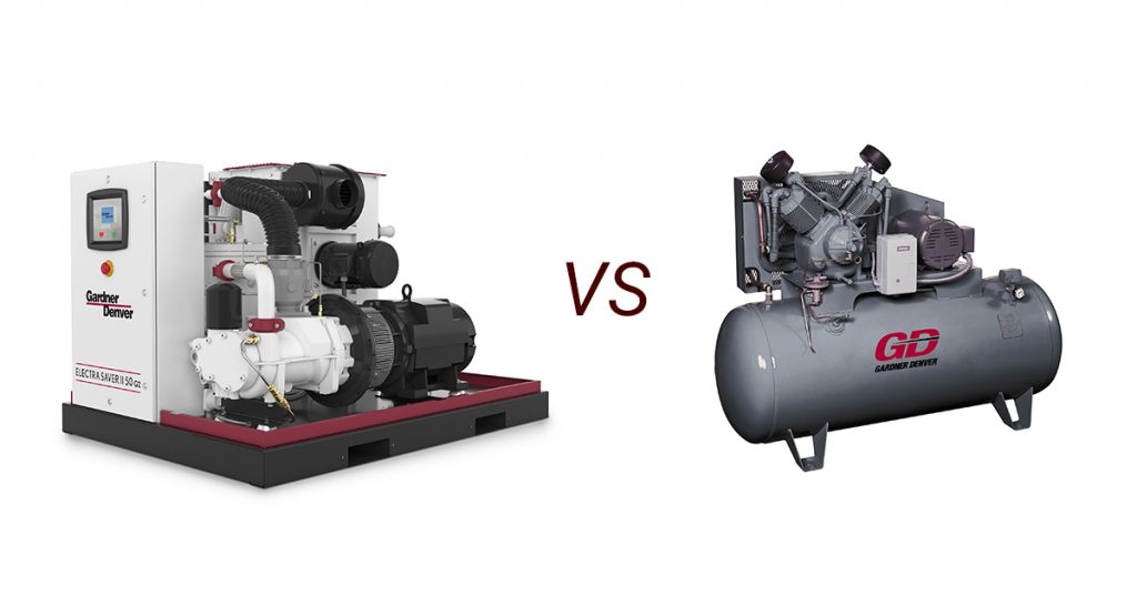 rotary screw compressor vs reciprocating air compressor