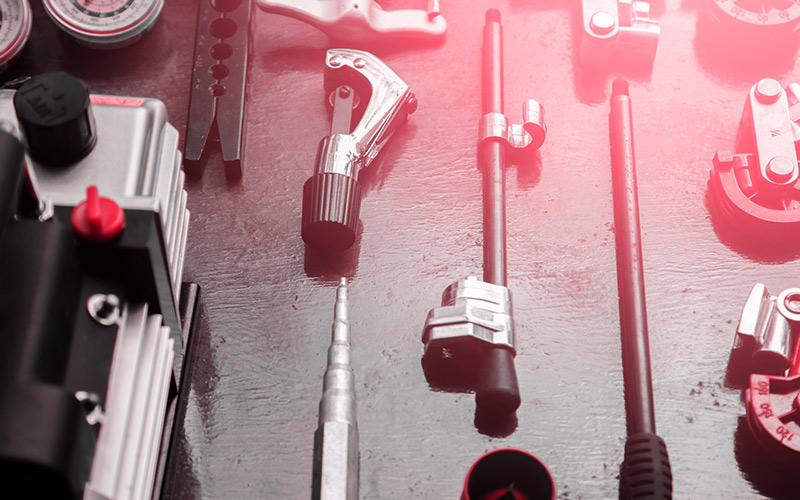 air compressor setup tools